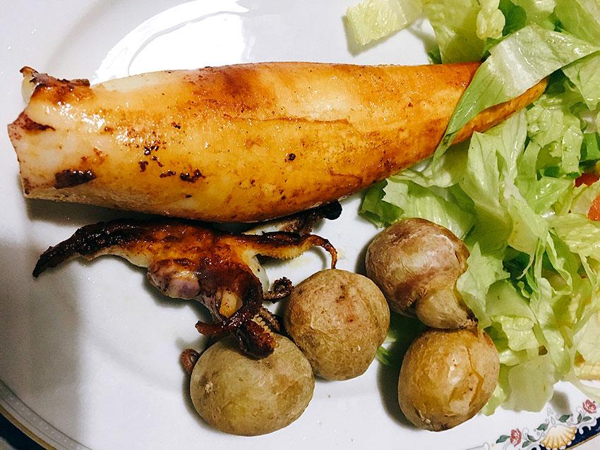 calamar a la plancha pescado canarias