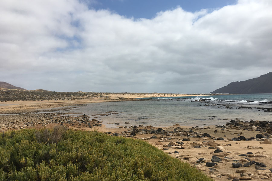 Distancias de rutas playas La Graciosa